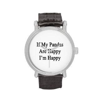 Si mes pandas sont heureux que je sois heureux montres