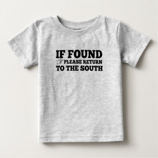 Si trouvé, revenez svp aux sud t-shirt pour bébé