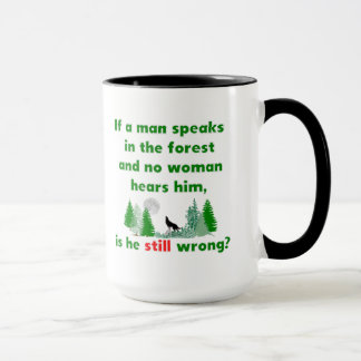 Si un homme parle dans la forêt comique attaquez mug