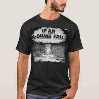 Si une bombe atomique tombe T-shirt vintage d'art