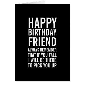 Si vous carte drôle d'ami de joyeux anniversaire