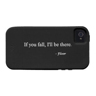 SI VOUS CHUTE MALADE SOYEZ LÀ L HUMOUR DRÔLE DE PL ÉTUI iPhone 4