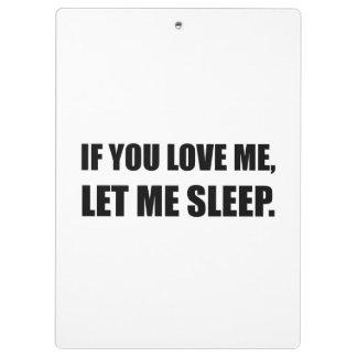 Si vous m'aimez me laissiez dormir porte-bloc