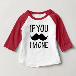 Si vous moustache je suis une chemise drôle de t-shirt pour bébé