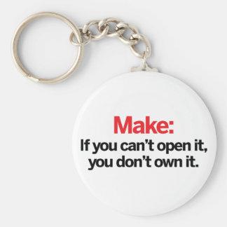 Si vous ne pouvez pas l'ouvrir porte-clé rond