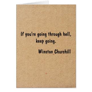 Si vous passez par l'enfer, continuez à aller cartes