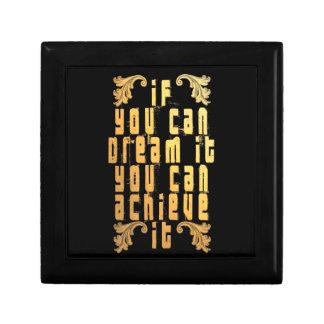 Si vous pouvez le rêver vous pouvez le réaliser petite boîte à bijoux carrée