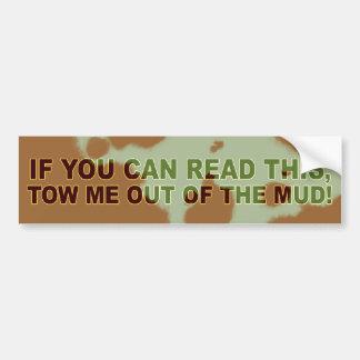 Si vous pouvez lire ceci… autocollant pour voiture