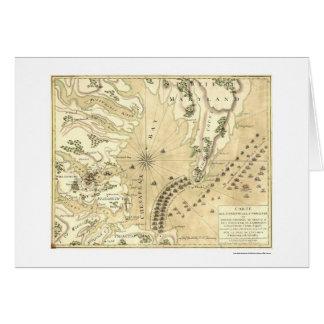 Siège de la carte 1781 de Yorktown