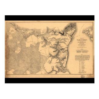 Siège de la carte de guerre civile de Yorktown la