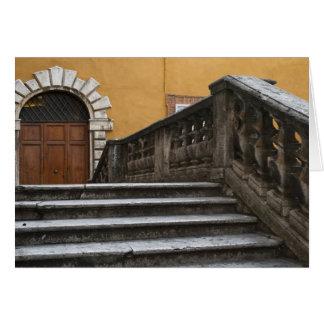 Sienna, Toscane, Italie - vue d'angle faible de Carte De Vœux
