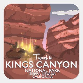 Sierra affiche des Rois Canyon de voyage de Nevada Sticker Carré