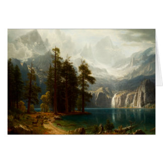 Sierra carte de voeux de Bierstadt de Nevadas