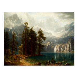 Sierra carte postale de Bierstadt de Nevadas