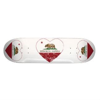 sierra coeur de drapeau de la Californie de madre  Plateaux De Skateboards Customisés