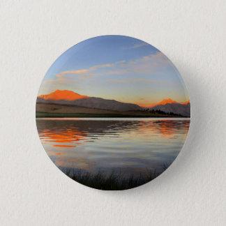 Sierra coucher du soleil de crête - traînée de badges