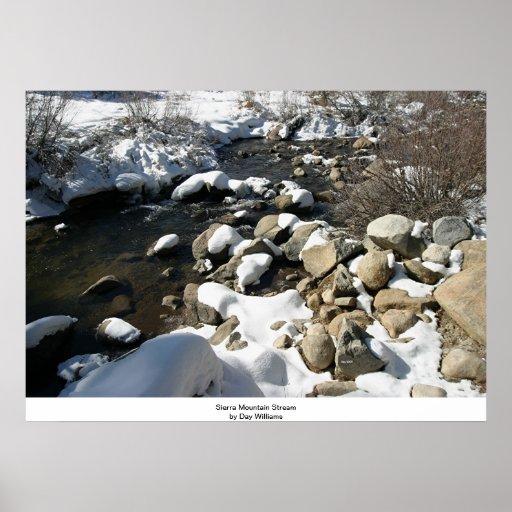 Sierra courant dans la neige affiche