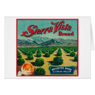 Sierra étiquette de caisse d'agrume de marque de v cartes de vœux