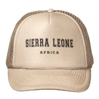 Sierra Leone Afrique Casquette Trucker