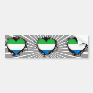 Sierra Leone d'amour du cru I Autocollant Pour Voiture