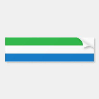 Sierra Leone/drapeau de Leonean Autocollant De Voiture