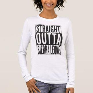 Sierra Leone droit d'outta T-shirt À Manches Longues