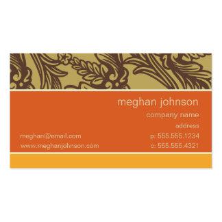 Sierra modèle de mandarine de Flourish de carte de Carte De Visite Standard
