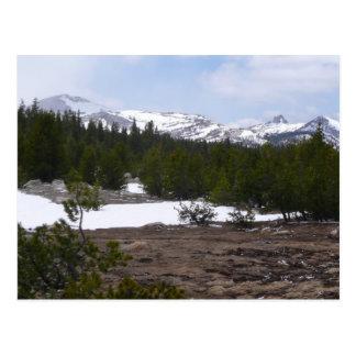 Sierra montagnes et neige de Nevada chez Yosemite Carte Postale