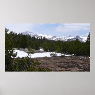 Sierra montagnes et neige de Nevada chez Yosemite Posters