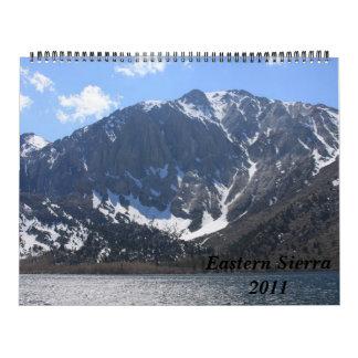 Sierra orientale 2011 calendrier mural