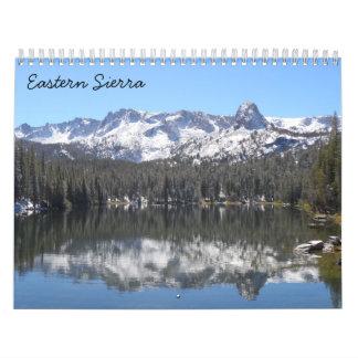 Sierra orientale 2018 calendrier