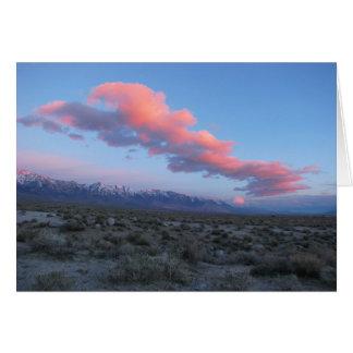 Sierra orientale carte de voeux de lever de soleil