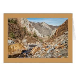 Sierra orientale cartes de note d'instantanés