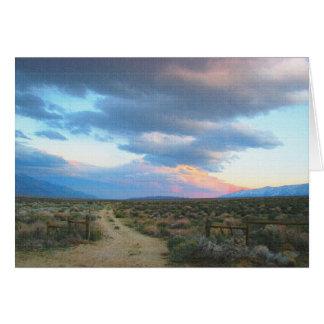 Sierra orientale paysage - la vallée d'Owen Carte De Vœux