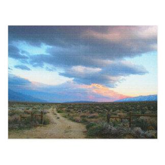 Sierra orientale paysage - vallée d'Owens Cartes Postales