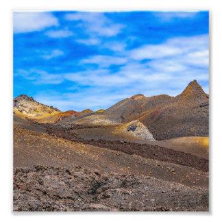 Sierra paysage de Negra, Galapagos, Equateur Impression Photo