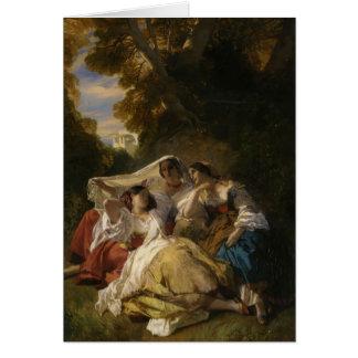 Sièste de La de Franz Xaver Winterhalter- Carte De Vœux