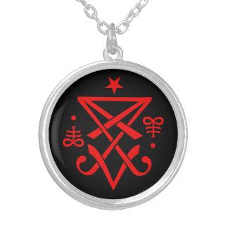 Sigil occulte de Lucifer satanique Pendentif Rond