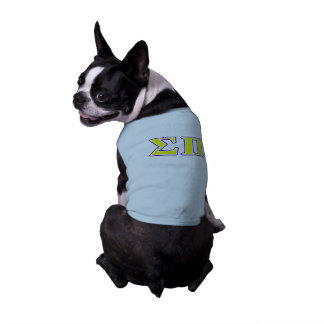 Sigma lettres jaunes et pourpres de pi t-shirt pour chien