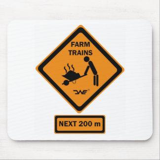 Sign exploitation agricole TRAINS Tapis De Souris