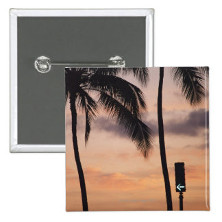 Signal et palmier badge