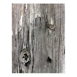 Signalisation en bois âgée de barrière de carte postale