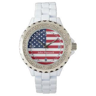 Signature de drapeau américain montres cadran