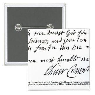 Signature Oliver Cromwell, de manuscrit Pin's