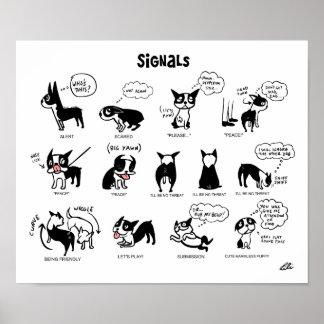 Signaux de boogie par Lili Chin Posters