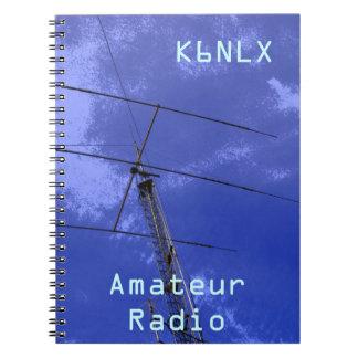Signe amateur d'appel radio carnet à spirale