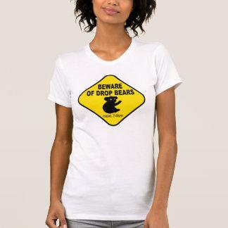 Signe australien drôle. Prenez garde des ours de T-shirts