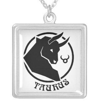 Signe carré de zodiaque de Taureau Pendentif Carré