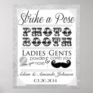 Signe chic minable vintage de mariage de cabine de posters