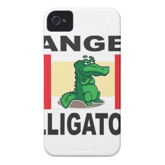 signe d'alligator de danger coques iPhone 4 Case-Mate